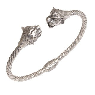 Handmade Sterling Silver 'Law of the Jungle' Bracelet (Indonesia)