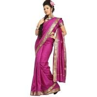 559b85eb81 Shop Peach Pink Art Silk Saree Sari fabric India Golden Border - On ...