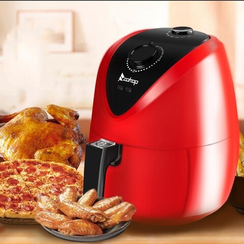 ZOKOP 1500W 2.7L Electric Air Fryer Red or Black
