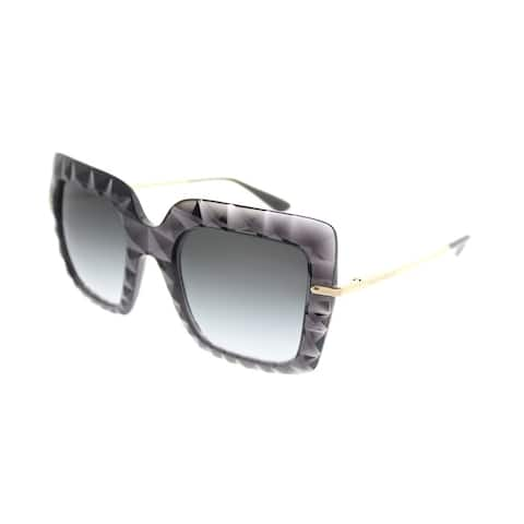 Dolce & Gabbana Square DG 6111 504/8G Womens Transparent Grey Frame Grey Gradient Lens Sunglasses