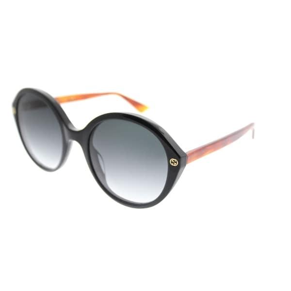 8f290ee4c Gucci Fashion GG 0023S 003 Women Black Frame Grey Gradient Lens Sunglasses