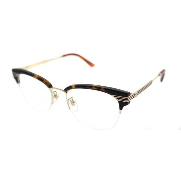 87890133ddc9 Shop Gucci Clubmaster GG 0201O 002 Women Havana Frame Eyeglasses ...