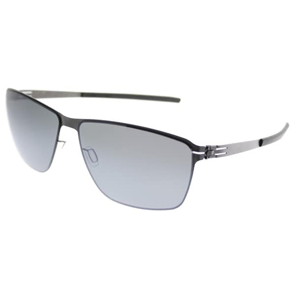 17cf15290743 Berlin Fashion ic Oli Graphite Men Graphite Frame Grey Mirror Lens  Sunglasses