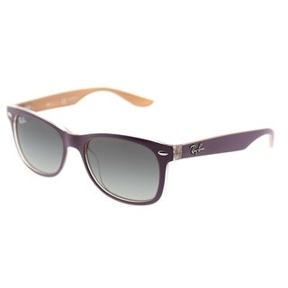 Ray-Ban Square RJ 9052S 703311 Children's Matte Violet On Orange Frame Grey Gradient Lens Sunglasses