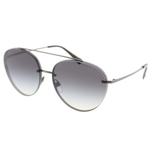 Valentino Pilot VA 2009 30178G Womens Matte Gunmetal Frame Grey Gradient Lens Sunglasses