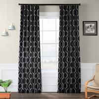 Exclusive Fabrics Cordon Black Blackout Curtain Panel Pair