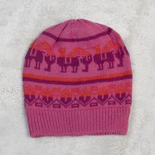 Handmade Alpaca Blend 'Alpaca Rainbow' Hat (Peru)