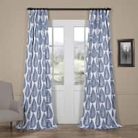 Exclusive Fabrics Medallion Blue Blackout Curtain Panel Pair
