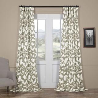 Exclusive Fabrics Sweet Pea Grey Blackout Curtain Panel Pair