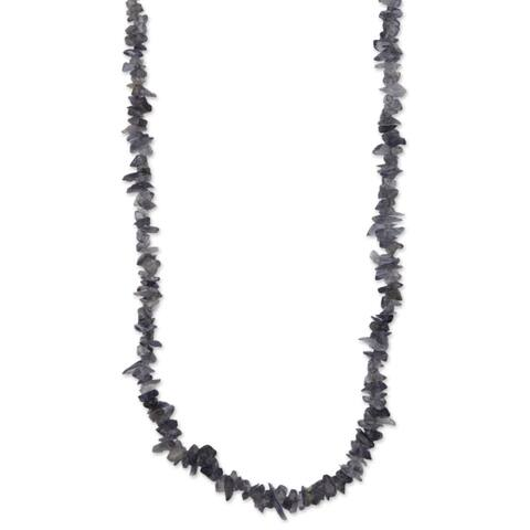 Handmade Iolite 'Blue Violet Infatuation' Necklace (Brazil)