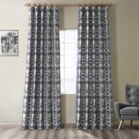Faux Silk Damask Curtains D