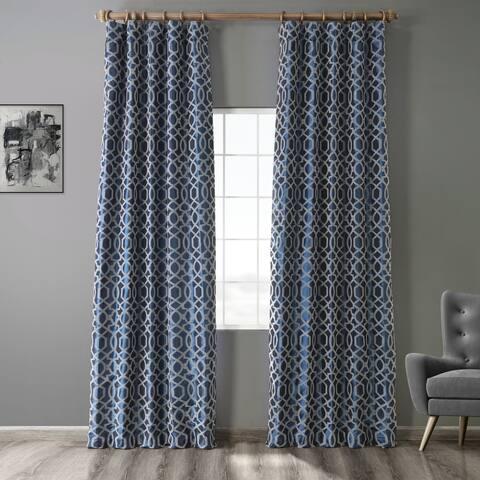 Exclusive Fabrics Filigree Flocked Faux Silk Curtain