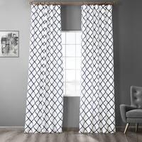 Exclusive Fabrics Pavillion Onyx Flocked Faux Silk Curtain