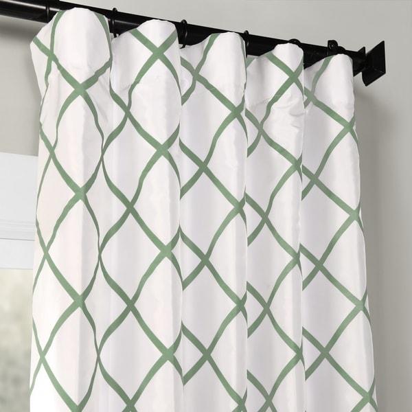 50 x 108 Jade PTFFLK-C22C-108 Flocked Faux Silk Curtain