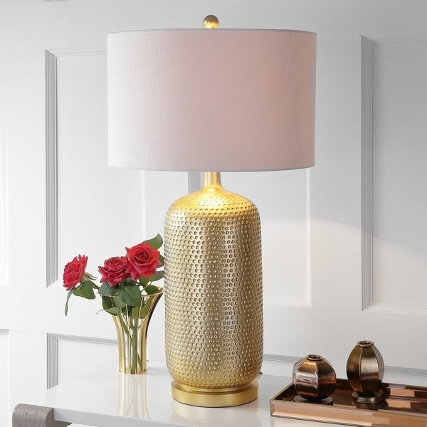 "Sophia 30"" Resin LED Table Lamp, Gold"