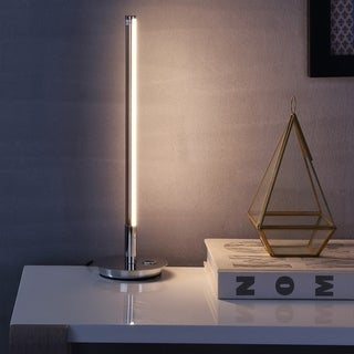 "Keira 16.5"" LED Integrated Table Lamp, Chrome"