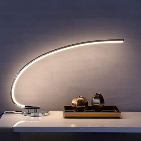 """Faye 16"""" LED Integrated Task Lamp, Chrome by JONATHAN Y"""