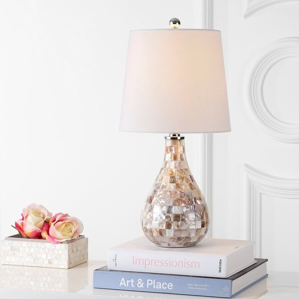 "Mona 20.5"" Mini LED Table Lamp, Seashell"