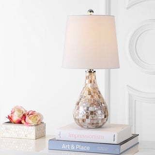 "Mona 20.5"" Mini Table Lamp, Seashell by JONATHAN Y"