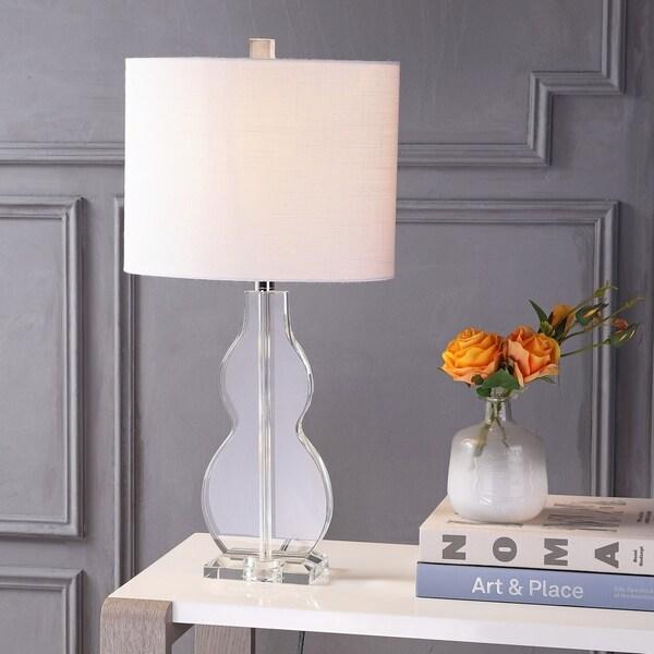 """Hadley 26"""" Crystal LED Table Lamp, Clear"""