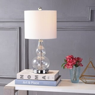 "Anya 20.5"" Mini Glass Table Lamp, Clear by JONATHAN Y"