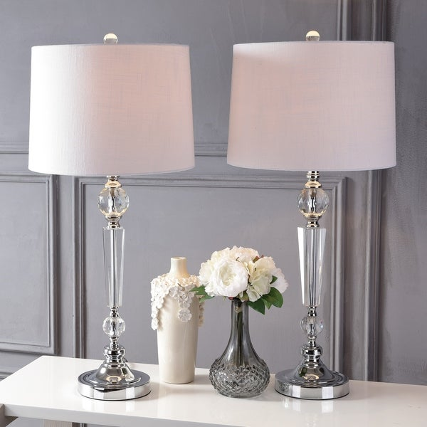 Shop Emma 29 5 Crystal Led Table Lamp Clear Set Of 2 By Jonathan