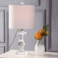 "Kellen 20.75"" Crystal LED Table Lamp, Clear"