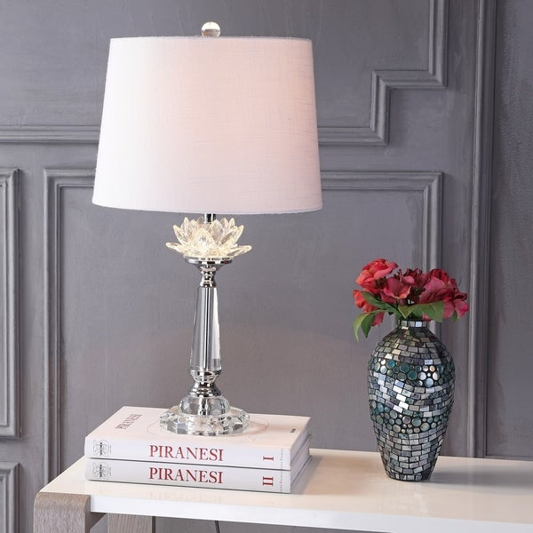 """Day 24.5"""" Crystal LED Table Lamp, Clear"""