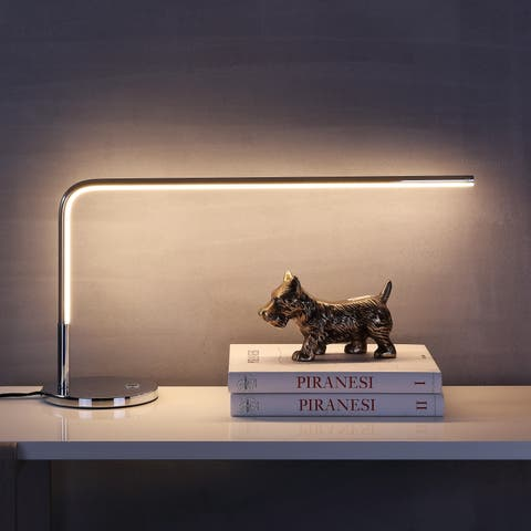 """Natalie 13.5"""" LED Integrated Task Lamp, Chrome by JONATHAN Y"""