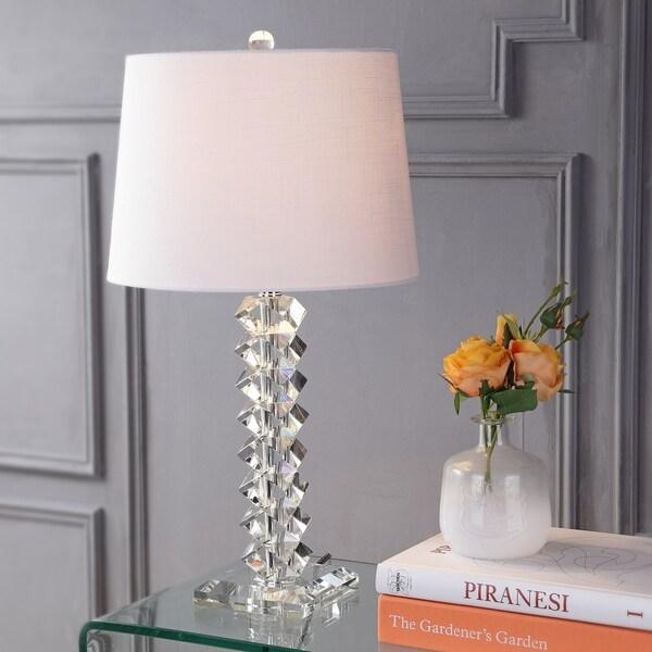 "Julia 25.5"" Crystal LED Table Lamp, Clear"