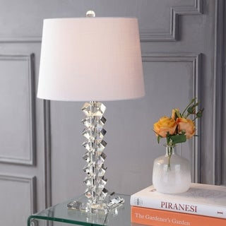 """Julia 25.5"""" Crystal Table Lamp, Clear by JONATHAN Y"""