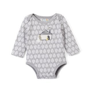 Grey and white house bodysuit