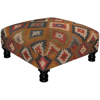 Handmade Herat Oriental Tribal Kilim Upholstered Ottoman|https://ak1.ostkcdn.com/images/products/18731006/P24806345.jpg?impolicy=medium