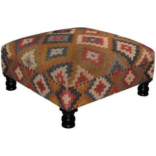 Handmade Herat Oriental Tribal Kilim Upholstered Ottoman https://ak1.ostkcdn.com/images/products/18731006/P24806345.jpg?impolicy=medium