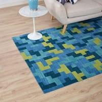 Andela Interlocking Block Mosaic 8x10 Area Rug