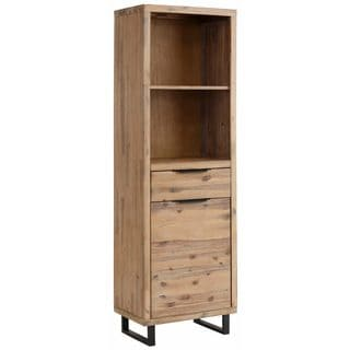 Diana White Oak 2 Drawer 1 Door Bookcase Free Shipping
