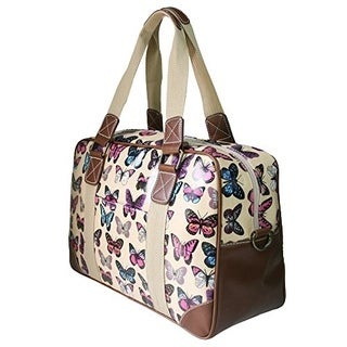 Miss Lulu Ladies Print Oilcloth Hand Shoulder Travel Bag