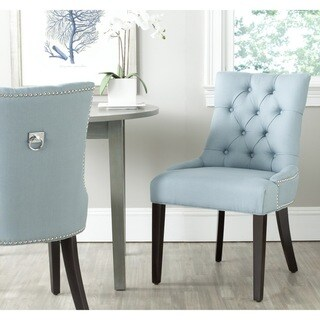 Safavieh En Vogue Dining Harlow Light Blue Ring Chair (Set of 2) (As Is Item)