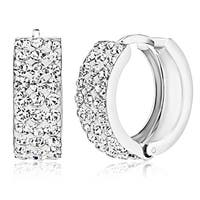 Pori Jewelers Sterling Silver Pave Crystal Earrings