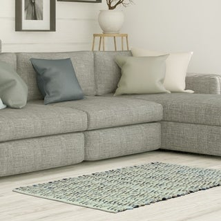 """Jessica Simpson woven Danyy Beige/Blue accent rug - 2'3"""" x 3'9"""""""