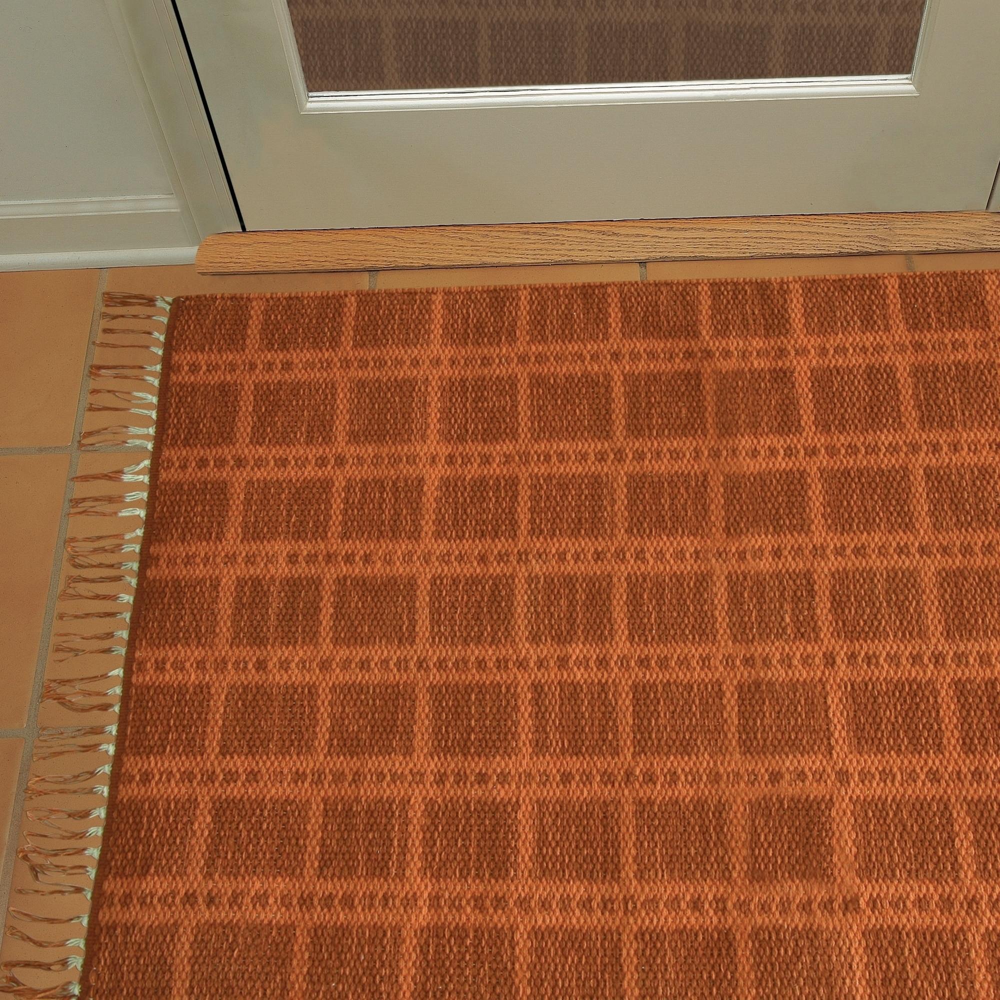 "Jessica Simpson woven Portola accent rug (Orange - 2'3"" x..."