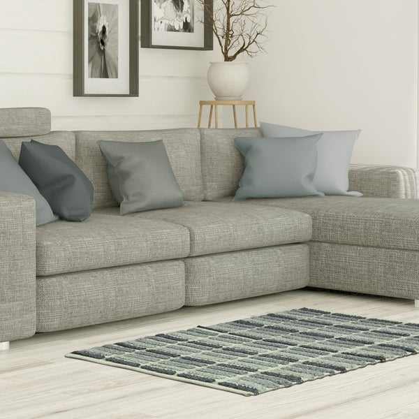 "Jessica Simpson woven Wynne Gray Natural accent rug - 2'3"" x 3'9"""