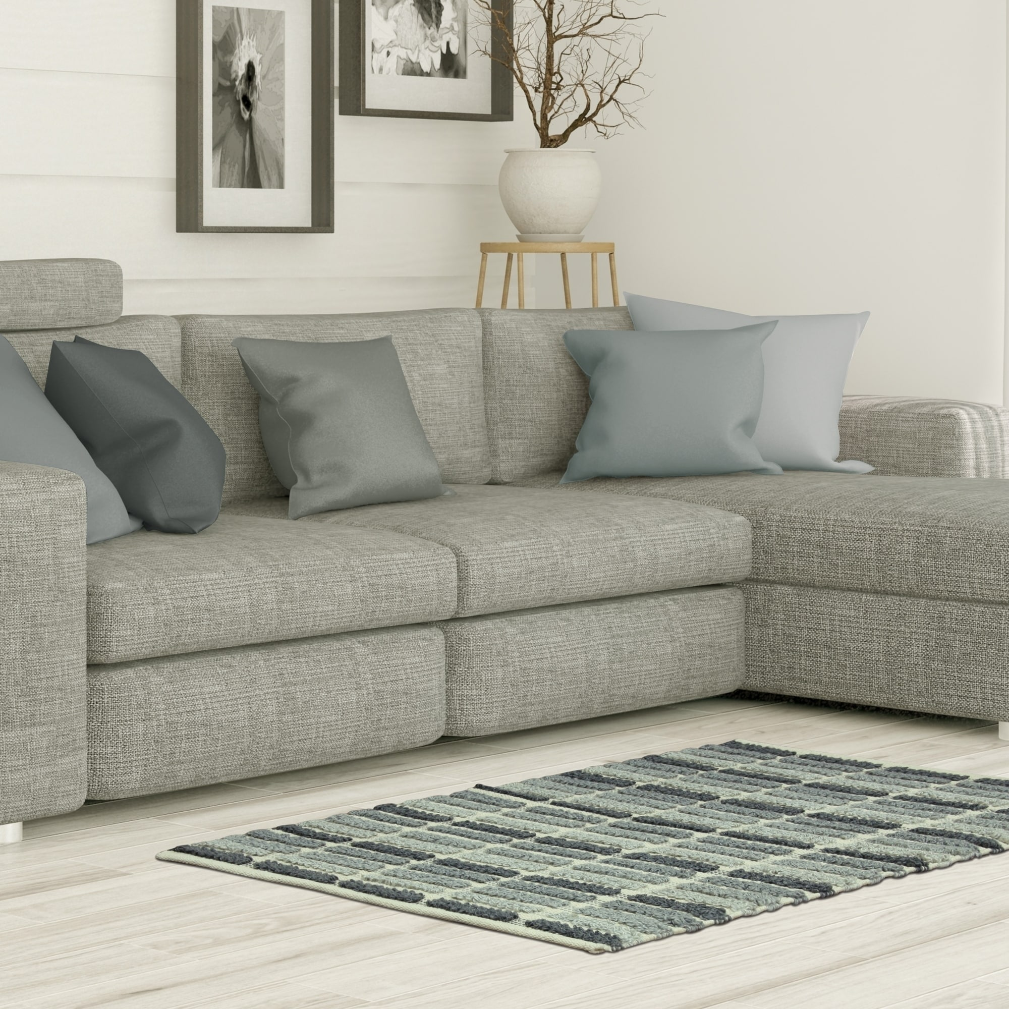 Jessica Simpson woven Wynne Gray Natural accent rug - 2'3...