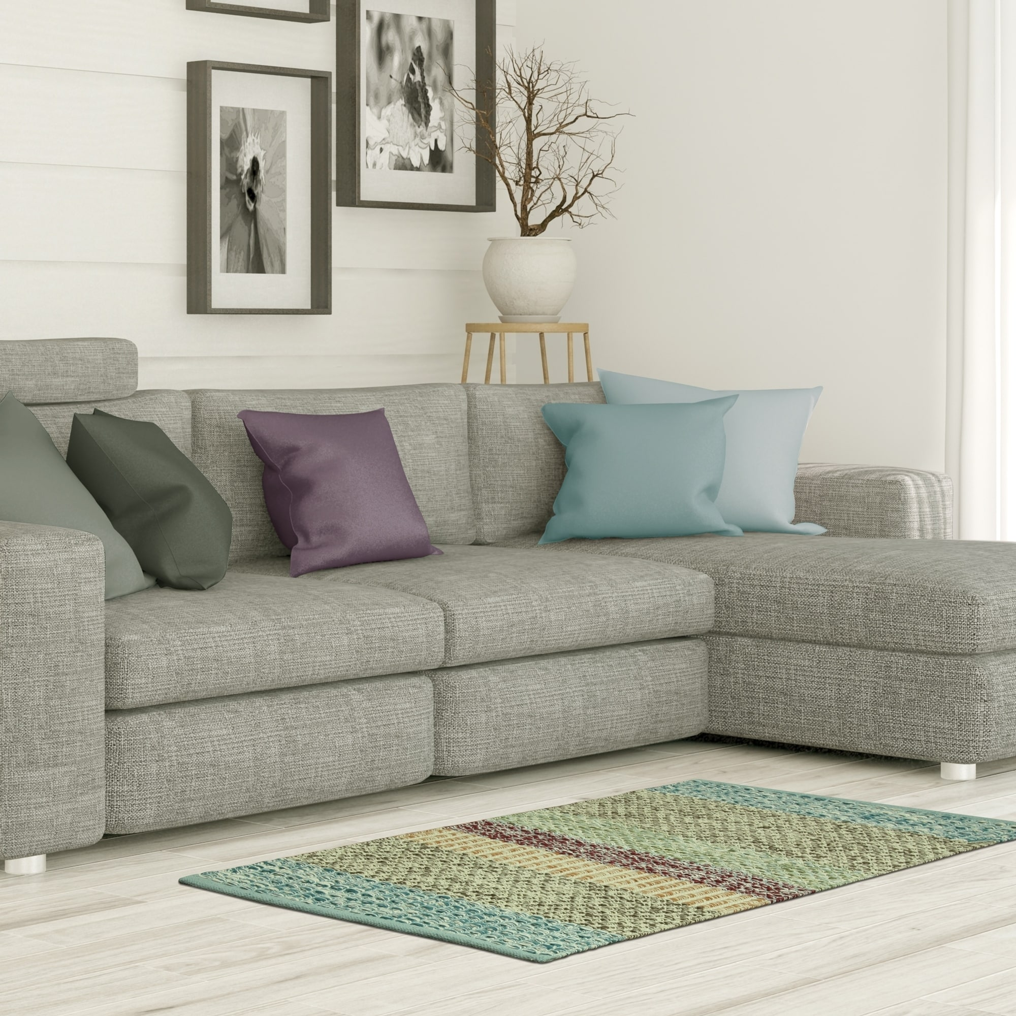 Jessica Simpson woven Kendall accent rug (Multi-color - 2...