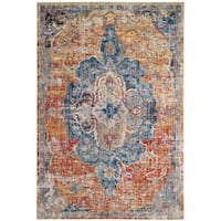 Safavieh Bristol Vintage Blue/ Orange Polyester Rug - 3' x 5'
