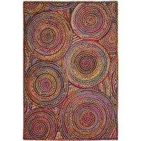 Safavieh Hand-Woven Cape Cod Red/ Multi Jute Rug - 3' x 5'
