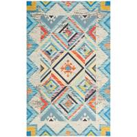 Safavieh Hand-Woven Cedar Brook Bohemian Blue/ Light Grey Jute Rug - 3' x 5'