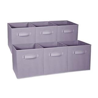 Foldable Storage Cubes - 6 Pack, Pastel Purple