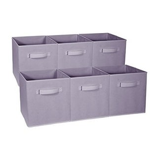 Foldable Storage Cubes - 6 Pack, Pastel Purple