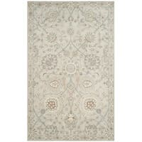 Safavieh Handmade Heritage Silver/ Ivory Wool Rug - 3' x 5'